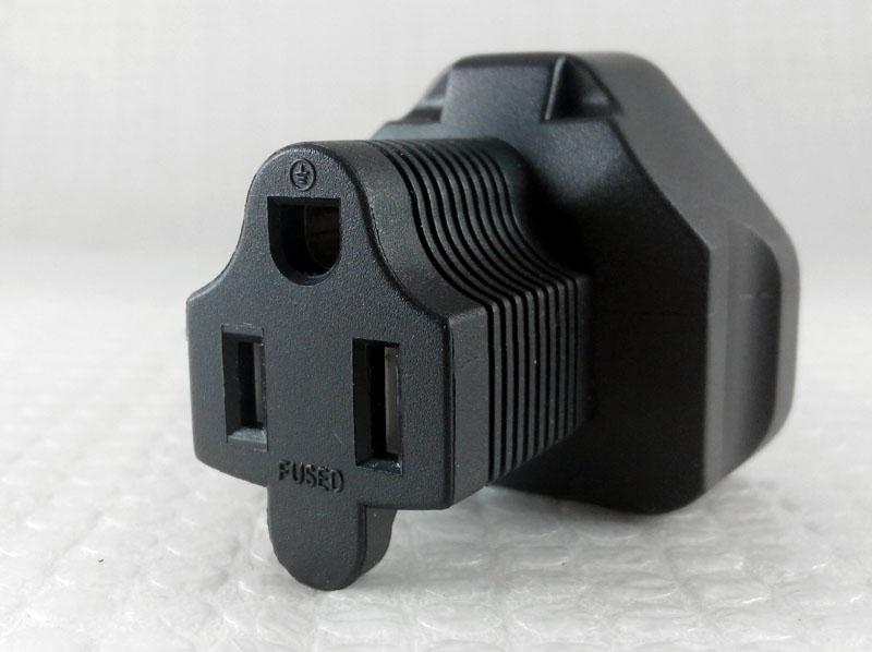 Usa Uk 3 Prong Plug Adapter Nema 5 15r Receptable