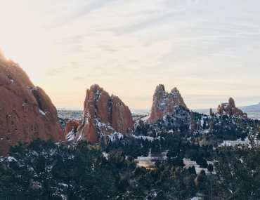 introvert's guide to winter adventures in colorado garden of the gods