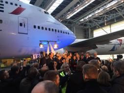 A bord du dernier vol du F-GITE - Boeing 747-400 d'Air France - Crédit photo : François BR via /// AAF