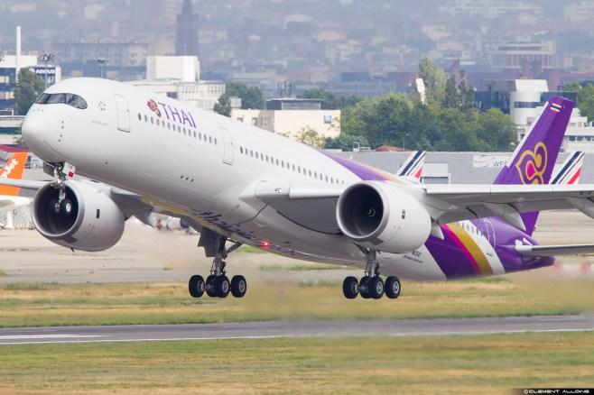 A350 Thai Airways à Toulouse / Clément Alloing