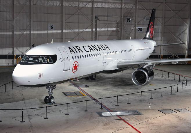 Nouvelle livrée sur Airbus A321 Air Canada