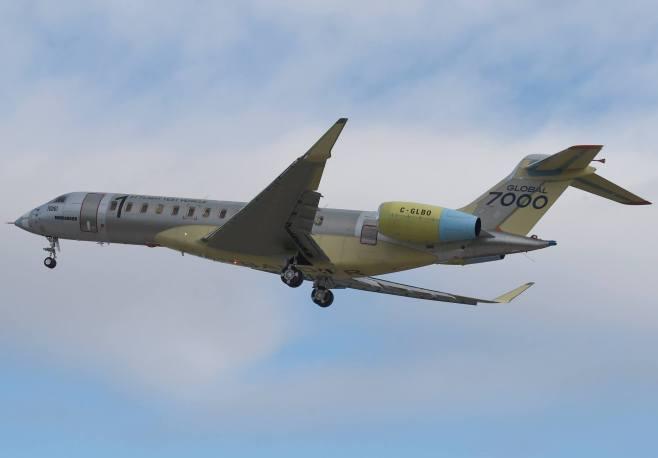 Global 7000 lors de son 1er vol test en novembre 2016