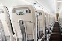 La cabine moderne des Bombardier CS100 de SWISS