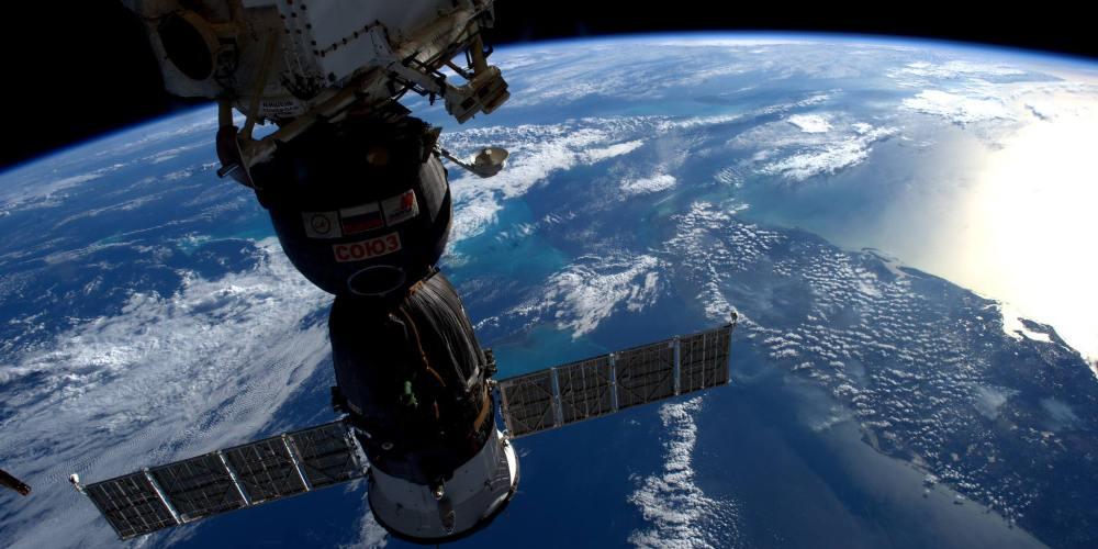 Vaisseau Soyouz ms-03 arrimé a l'ISS
