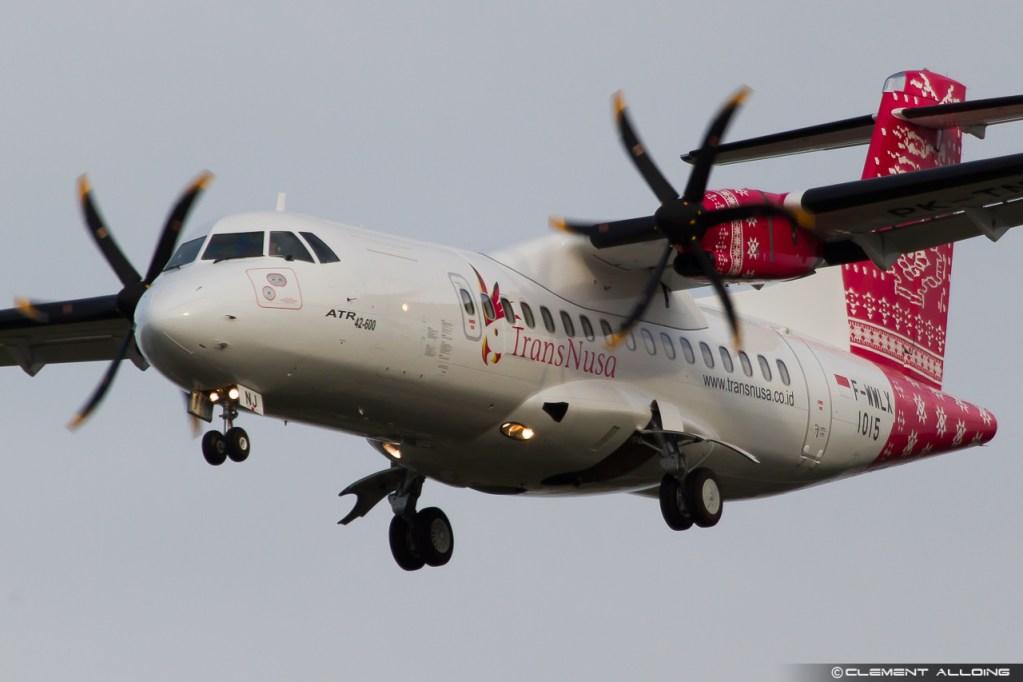 TransNusa Aviation Mandiri ATR 42-600 cn 1015 F-WWLX // PK-TNJ