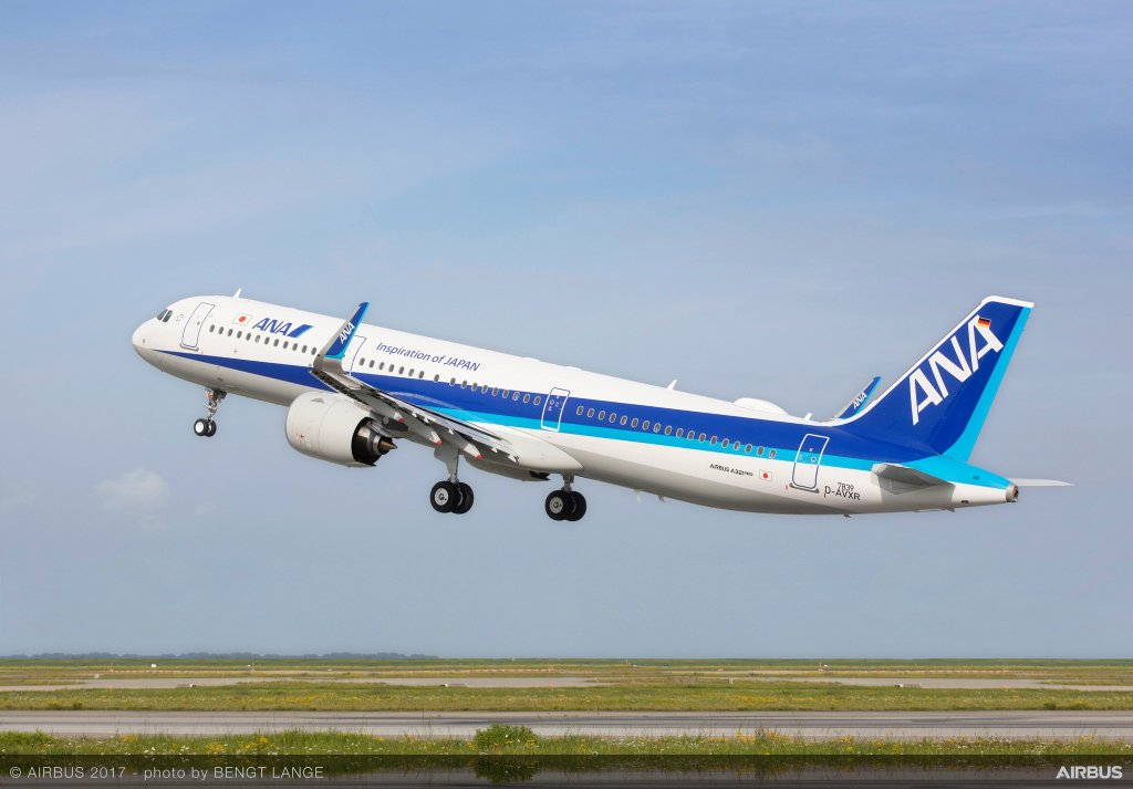 l'A321neo ANA décolle d'Hambourg