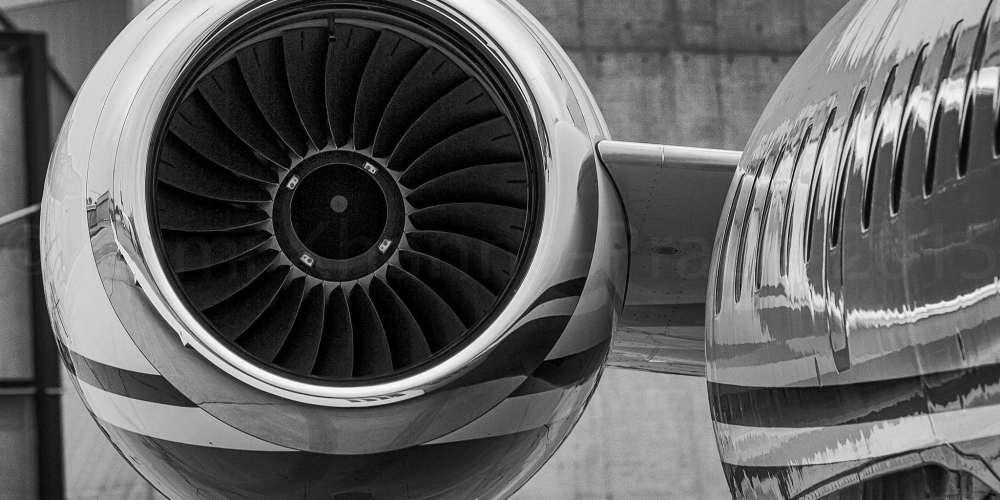 Moteur droit d'un Bombardier Global Express