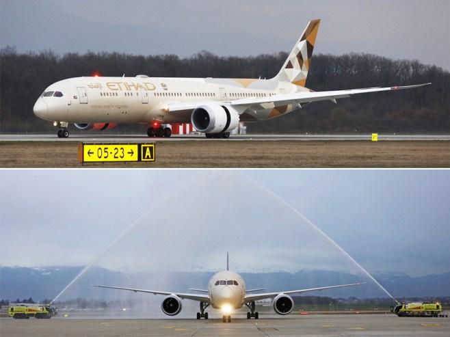 Boeing 787-9 Etihad Airways à Genève