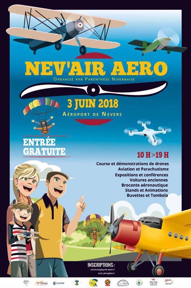 Affiche événement Nev'air Aéro