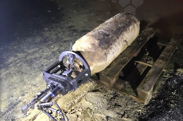 L'obus découvert l'aéroport de Bruxelles, Belgique