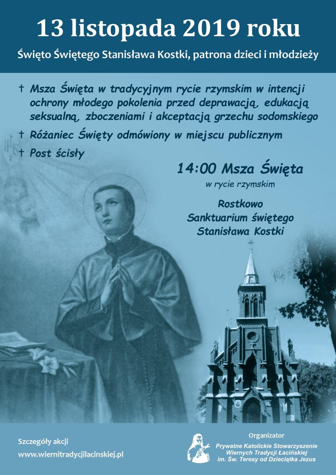 Św.Stanislaw_Kostka_Listopad_Plakat