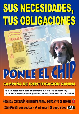 Cartel de bienestar animal