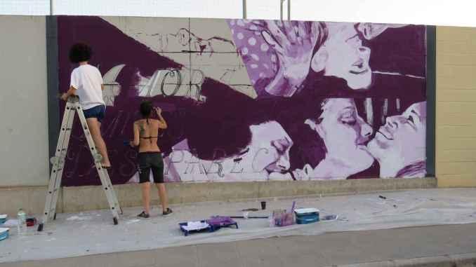 El arte de grafiti en el festival