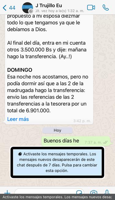 Whatsapp: cómo activar y desactivar los mensajes temporales 2020
