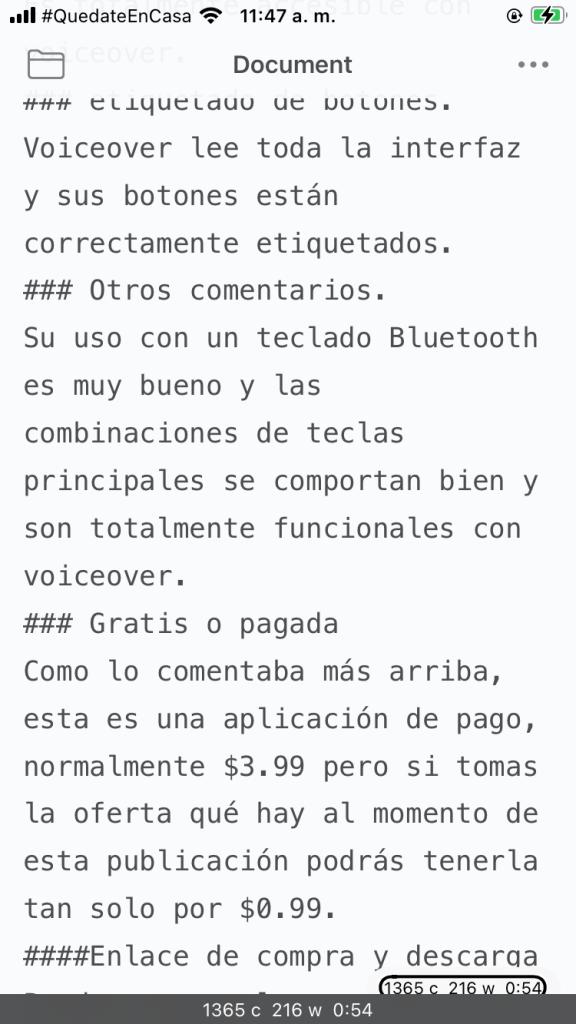 iWriter: para iOS ahora a $0.99