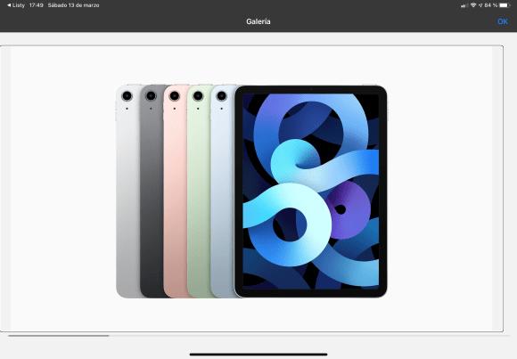 Imagen de un iPad Air 4