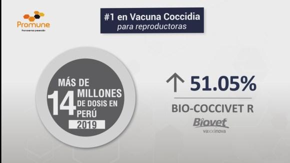 Bio Coccivet R, más de 14 millones de dosis en Perú