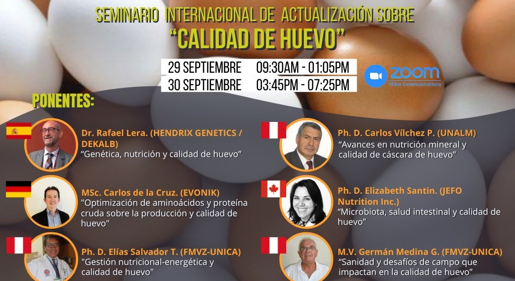 """UNICA y UNALM desarrollarán Seminario Internacional Virtual """"Calidad de Huevo"""""""