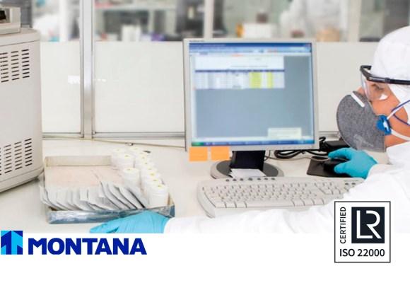 MONTANA continúa a la vanguardia en seguridad alimentaria al alcanzar el ISO 22000