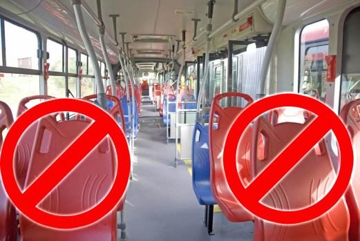debido a que los usuarios optan por sentarse en el piso, Transmilenio retirará las sillas rojas de los articulados.
