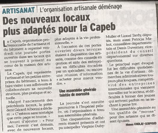déménagement de la Capeb74