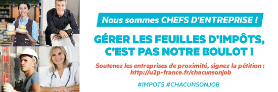 PRÉLÈVEMENT DE L' #IMPÔT SUR LE #REVENU À LA #SOURCE – Les #entreprises de #proximité se mobilisent :  « Gérer les feuilles d'impôts, c'est pas notre #boulot ! »