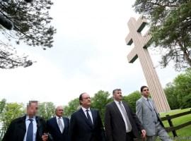 Le président Hollande à Colombey