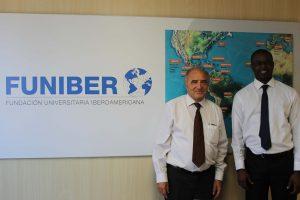 Représentant de l'Université de Dakar (Sénégal) visite FUNIBER