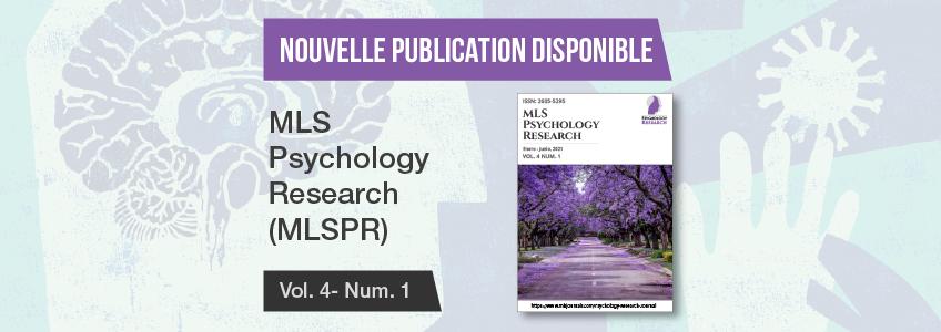 Nouveau numéro de MLS Psychology Research, une revue parrainée par FUNIBER