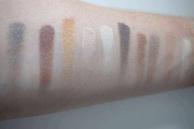 swatches Zoeva, eye shadow, basic moment