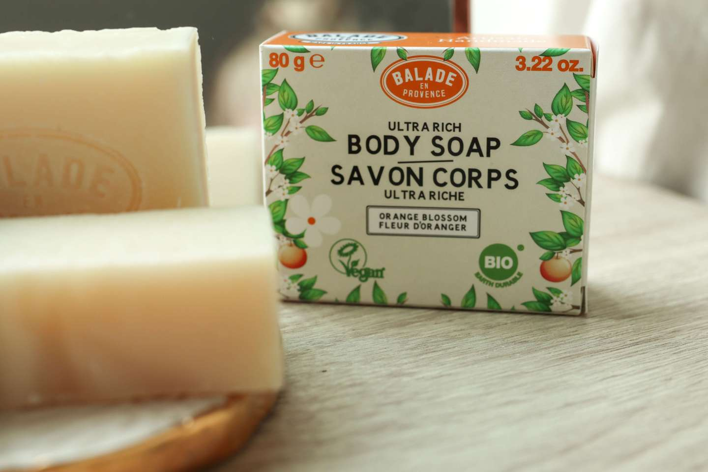 New Vegan Organic Solid Body Soap Bar from Balade en Provance