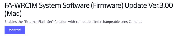 Sony publie une nouvelle mise à jour du micrologiciel pour le FA-WRC1M