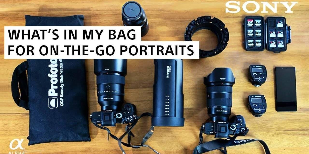 Dans la sac de Brian Smith, photographe de portrait