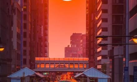 Le soleil de Chicagohenge capturé par @mmeyers76 à l'aide de l'A7R IV