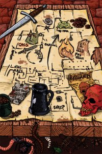 Adventures always begin with inaccurate cartography. dungeon_world_the_world_by_edmcd