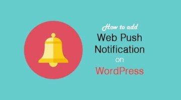 Add Push Notification in WordPress