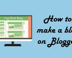 How to make a blog on Blogger in less than 2 minutes