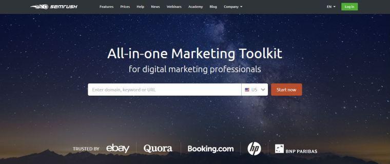 Semrush - Best blogging tools for better SEO