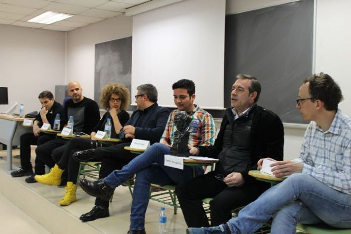 Panel de cineastas en la Universidad Complutense. (F/Carleth Morales)