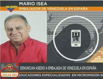 El no secuestro de Mario Isea en Madrid