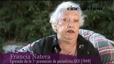 Francia Natera, pionera del periodismo venezolano