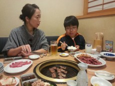 yakiniku avec la famille hiramatsu