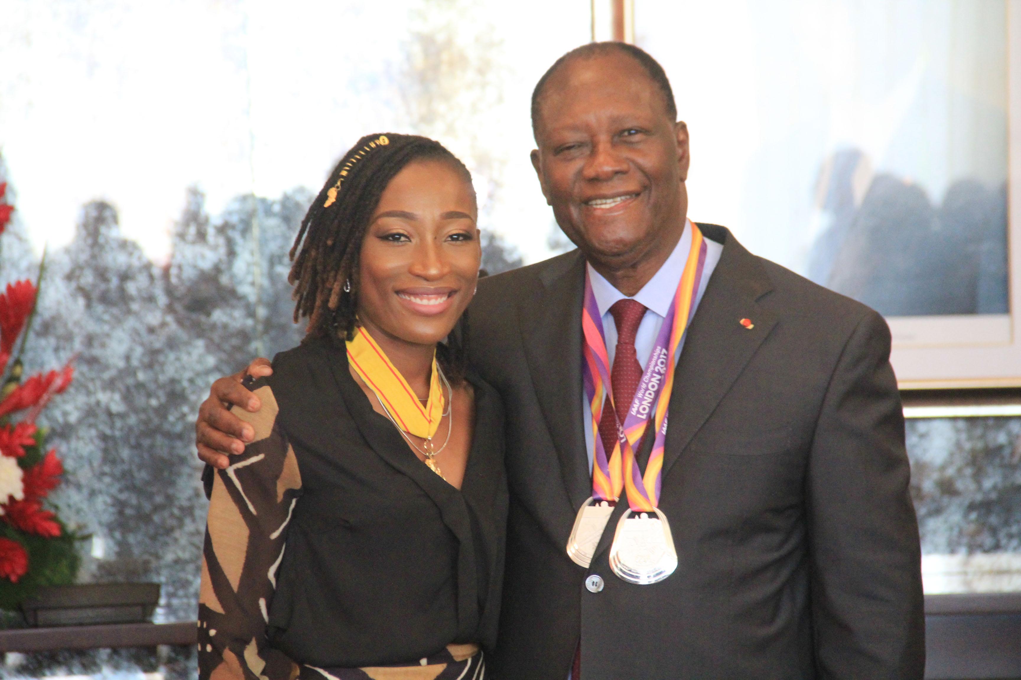 COTE D'IVOIRE : le gouvernement offre  40 millions de FCFA à l'athlète  Ta Lou