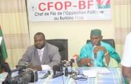 CRISE A LA CENI : l'opposition politique solidaire de ses cinq commissaires