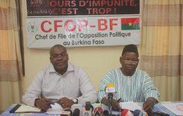 Elections de 2020: « le MPP bat campagne en finançant bruyamment (…) des distributions de CNIB », dixit le CFOP