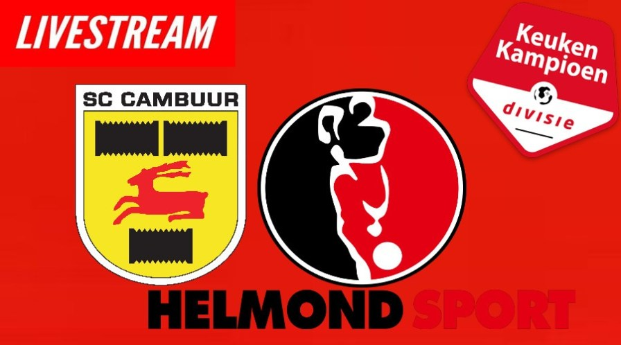 Livestream SC Cambuur - Helmond Sport Keuken Kampioen Divisie