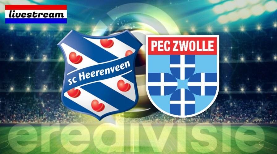 SC Heerenveen - PEC Zwolle voetbal livestream gratis