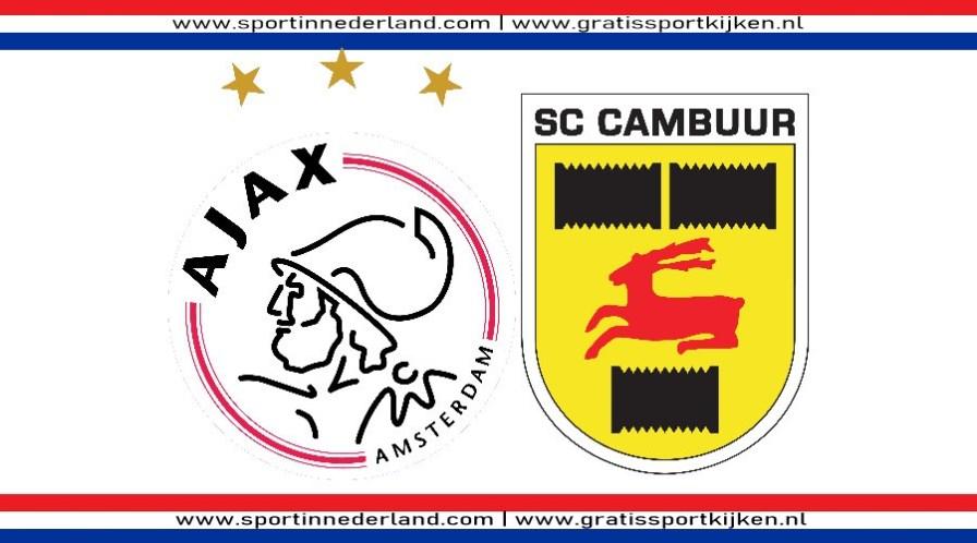 Kijk hier via een livestream Ajax - SC Cambuur
