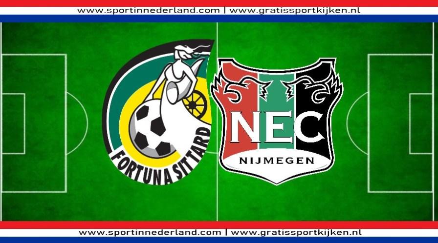 Fortuna Sittard - NEC kijken via een livestream