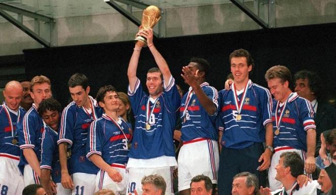 Championne de l'équipe de France de la Coupe du monde 1998